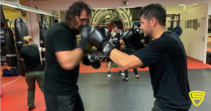 Boxhandschuhe und Sparring