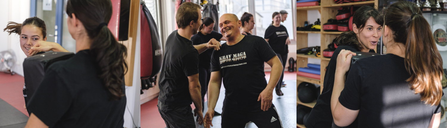 Impressionen unserer Trainings in Aarau bei Krav Maga Protection - Spass muss sein !