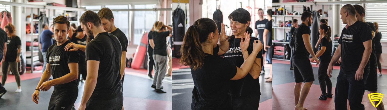 Gemeinsam die moderne Selbstverteidigung trainieren und auch mit viel Spass besser werden